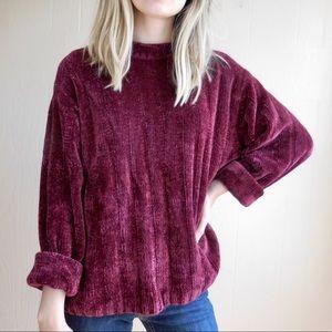 Vintage Chenille Crewneck Sweater